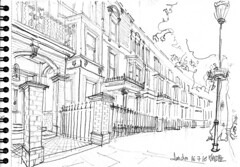 London, Philbeach Gardens, SW5 (Croctoo) Tags: croctoo croctoofr croquis crayon london