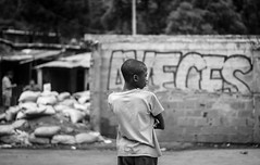 Sometimes (ivandcastrillon) Tags: neighborhood children child street construction concret canon camera city colombia common black barrio boy body antioquia architecture gente photography photo persons people person portrait light white exterior negro nacional north medellin monochrome mm
