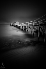 DARK&LIGHT (Laws Photography | www.lawsphotography.com) Tags: longexposure longexposurebwfineart longshutterexposure long blackandwhite black white blackandwhitefineart bw le neutraldensityfilter nd10stop ndfilter landscape lawsphotography seascape vaughanlaws jetty dark pier ocean outdoor fineart rocks