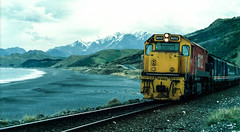 Blue Slip - Kaikoura coast (andrewsurgenor) Tags: locomotive engine transport diesel nz newzealand train railway railroad narrowgauge rail nzr railfan