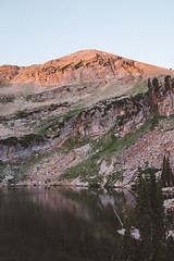Cecret Lake Sunrise I (Jake Allison) Tags: utah sunrise light alpenglow lake cecret hike