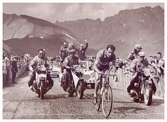 Charly Gaul, 1958 Tour de France. (Paris-Roubaix) Tags: charly gaul angel mountains tour de france 1958 yellow jersey vintage cycle racing photographs luxembourg