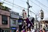 mikoshi moving on the street, Sumiyoshi-taisha, Osaka (jtabn99) Tags: mikoshi osaka sumiyoshitaisha japan nippon nihon 20160801 people chochin tram rail 神輿 住吉大社 夏祭 住吉祭 大阪 日本 渡御 みこし
