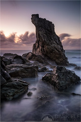 Out Of The Sea (Darkelf Photography) Tags: lighthouse beach tacking point port macquarie nsw newsouthwales australia shore coast morning dawn sunrise clouds rocks seascape landscape longexposure pacific ocean filter polariser canon 24105mm 5diii maciek gornisiewicz darkelf photography outofthesea 2016 lee