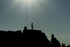 The sun illuminates our silhouette (jcfasero) Tags: donon cangas morrazo costa vela pontevedra galicia espaa spain sunset silueta silhouettes nature naturaleza outdoor summer happiness