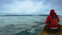 Lady in Red (2) (deanspic) Tags: 100paddles 65100 red rain raingear paddle paddling photopaddle canoe canoeing lakestlawrence wet water waves g3x paddlesplash breakingwave crest wavecrest explore