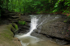 Lower Falls at Fall Run Park 9932 (James.Baron) Tags: waterfall water nature green fallrunpark fallrun spring pa pittsburgh shaler park pentax
