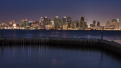 View From Harbor Island (George_Adkins) Tags: cityskyline sandiegoharbor sandiego downtownsandiego downtown pacificocean harborisland nightphotography night bythesea
