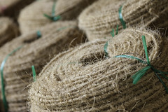 Coconut Fibre Twine (Simon Daniels Photography) Tags: coconut fibre twine crafts local vietnam mekong delta bales rope