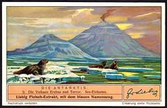 Liebig Tradecard S1328 - Erebus and Terror Volcanoes (cigcardpix) Tags: tradecards advertising ephemera vintage liebig