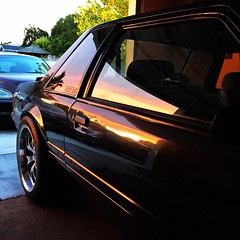 Evening side shot (Von Glorious) Tags: ford 1993 chp mustang ssp lx notchback californiahighwaypatrol mustanglxcoupe