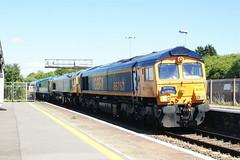 66763 at Bristol PW. on 0A45 Didcot to WSR (Karel1999 Over a Million views ,many thanks) Tags: bristol railway zug trains locomotives vlak 59003 66763