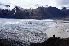 Glacier from Skaftafell National Park (Ludovic Farine) Tags: park trip sea summer cold island daylight iceland long day north reykjavik glacier adventure national epic islande skafatafell vatnajokulspojugadur
