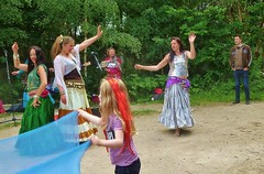 fun and dance (helenoftheways) Tags: towerhamlets summerfair london uk people candid dancing children violin bellydancing naturereserve freeassociation