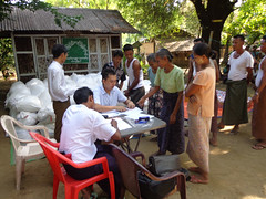 Aid Distribution in Myanmar