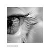 A l'ombre de ses cils (SAUVM2) Tags: bw reflection eye monochrome canon square eos blackwhite noir eyelashes nb oeil reflet et blanc carré noirblanc cils