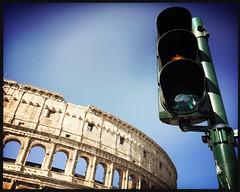 Rome (Penseroso) Tags: iphone travel trafficlight colosseum italy rome