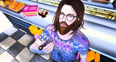munchies (aarontj90) Tags: pipe weed dunkindonuts donut doughnut smoke munchies cool hipster jesus glasses secondlife sl mesh dossier theepiphany epiphany gacha reign flite