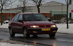 Citroën Xantia 2.0i 16V (Skylark92) Tags: citroen snow winter event xantia red trsh86 20i 16v 1998 outdoor vehicle car
