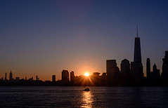 Sunrise over Manhattan. (Fazia_) Tags: tower skyline sunrise liberty boat manhattan mahattan eastriver libertytower