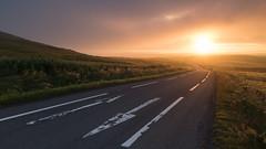 Road Home (Dylan Nardini) Tags: countryside summer scotland fenwick eaglesham mist sunrise moors road 2016 weather morning light