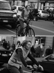 [La Mia Citt][Pedala] (Urca) Tags: milano italia 2016 bicicletta pedalare ciclista ritrattostradale portrait dittico nikondigitale mir bike bicycle biancoenero blackandwhite bn bw 872110