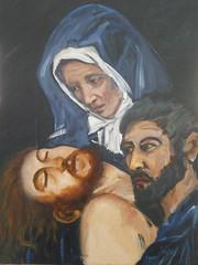 Studio su Caravaggio dipinto a olio (Renoil L.) Tags: caravaggio deposizione