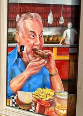 Indigestion Friday (e r j k . a m e r j k a) Tags: pennsylvania allegheny pittsburgh indigestion window eat whimsy lincolnhighway erjkprunczyk