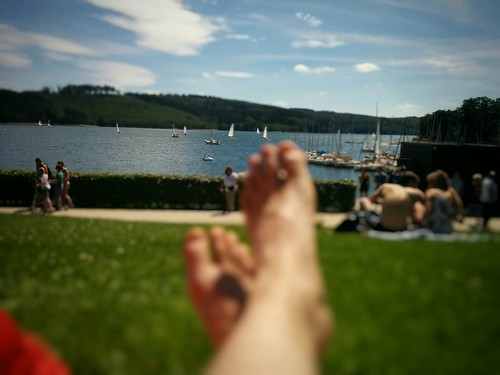 Chilling out at Sorpesee