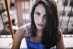 Giaele (the Piper at theGates of Dawn) Tags: portrait girl beautiful lights eyes dots