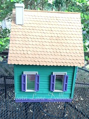 IMG_0411 (AcornLaneDollhouses) Tags: westville greenleaf dollhouse exterior green shingled roof siding handcrafted gingerbreadtrim