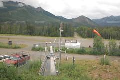 Weather Station (Matthew & Jenny) Tags: weatherstation anemometer windsock akrr alaska alaskarailroad railroad arr