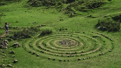Stoner (Nad) Tags: grass puzzle landscape art maze scotland man sculpture circle green pattern people diagram
