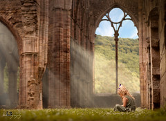 ... a bit of History ... in Tintern Abbey (Margarita K...) Tags: southwales south wales beautifulwales child childhood fairytales portrait ngc girl tintern abbey nikon d5200 mkphotography margaritakphotography