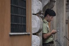 iPhone Break... (JH Images.co.uk) Tags: portrait soldier iphone break rome italy guard uniform street city roman guards honor