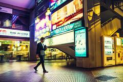 Back To The Club (Jon Siegel) Tags: nikon d810 sigma 24mm sigma24mmf14art 24mmf14 14 urban city night evening man boy fashion style stylish walking candid neon light signage chinese singapore singaporean ktv nightclub secret mysterious colorful people