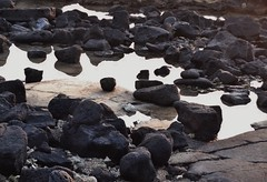 One Tiny Crab (can you find it?) (OrlandParkBirdieGirl) Tags: beach sand lava rock ocean crab tide pool reflections sunset kona hawaii makaeo old airport big island