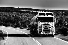 BW road train (Richard Mart1n) Tags: blackandwhite white black truck roadtrain train westernaustralia
