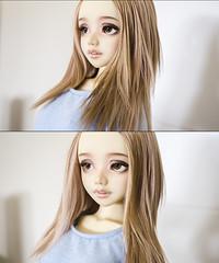 In progress Natural Blend (Frappzilla) Tags: unoa wig progress doll bjd lusis commission