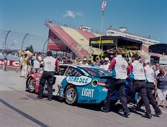 #32 Car Being Pushed to the Grid, Watkins Glen, New York (nsandin88) Tags: ektar100 said motor medium 120 nascar fast borissaid motorsports ektar zenza speed etrsi film kodakektar watkinsglen kodak auto mediumformat bronica outside automotive getoutthere car filmisnotdead outdoors ny newyork race stockcar racing