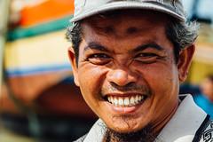 Smiling Indonesian Fisherman, Bancar (AdamCohn) Tags: adamcohn indonesia tuban tubanregency boat face fisherman fishing fishingboat kapal kapalnelayan man portrait ship shipsboats smile smiling wwwadamcohncom bancar