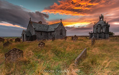 Little Church On The Prairie (Steven Peachey) Tags: church standrews northumberland canon canon6d ef1740mmf4l leefilters lee09gnd sunset sky lee06gnd stevenpeachey lightroom5