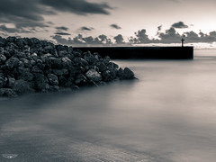 Nauru Boat Harbour B+W (Laith Stevens Photography) Tags: black white bw silver harbour nauru tropical paradise south pacific rocks sea water ocean port ramp smooth calm concrete olympus omd em1 1240mm f28 tripod long exposure ngc