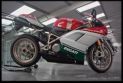 Ducati-1098 (zweiblumen) Tags: ducati1098 tricolore motorcycle motormuseum jurby jourbee isleofman ellanvannin hdr canoneos50d polariser zweiblumen photoshopcs4