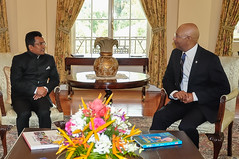 Governor General, His Excellency, the Most Hon. Sir Patrick Allen,Receives Letters of Credence from High Commissioner-designate of the Republic of India, Sevala Naik Mude