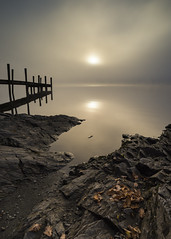 Misty sunrise (Peter Henry Photography) Tags: lake lakedistrict derwentwater mist fog sunrise calm still colour autumn