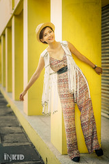 DSC08349 (inkid) Tags: street light fashion female 50mm li model dof natural bokeh f14 sony ambient agnes dslr wei za ssm lim asiangirl a900