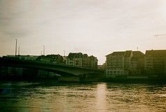 River Basel (BassChalice) Tags: camera holiday love film 35mm river fun switzerland young basel rhein 20s