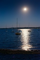 Moonlight (cgerull) Tags: night sailboat germany boats harbour moonlight hohwacht relexions