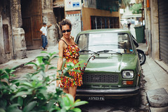 127 green leaves in Palermo (Sator Arepo) Tags: street leica flowers italy green classic leaves umbrella 50mm fiat 127 sicily noctilux palermo m9 decadent fiat127